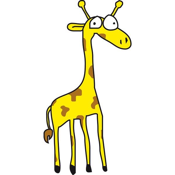 Vinilo infantil jirafa color - Dibujos de vinilo para paredes ...