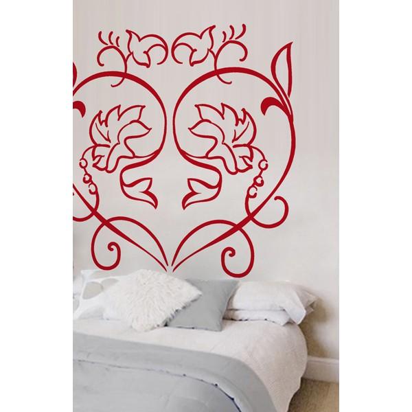 Cabecero cama corazón