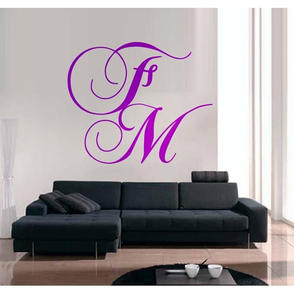 Vinilo decorativo Letras personalizadas 04
