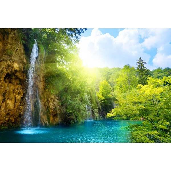 Fotomural cascada for Vinilos pared paisajes