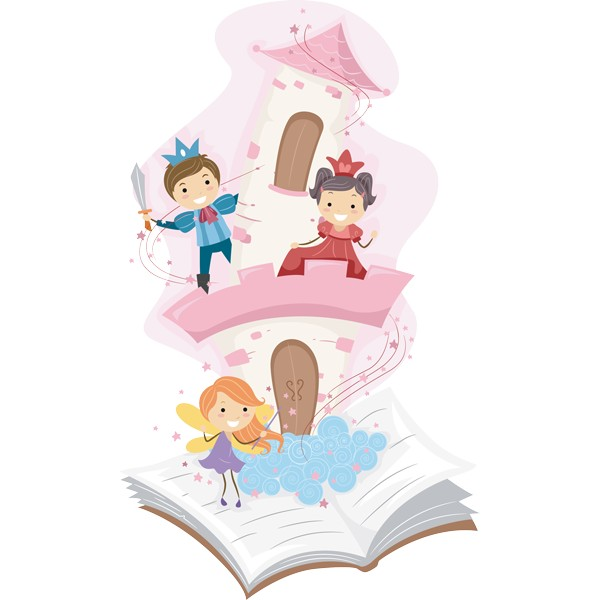 El Baño Cuento Infantil:Vinilo infantil cuento de princesas