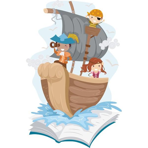 Vinilo infantil cuento piratas - Imagenes de piratas infantiles ...
