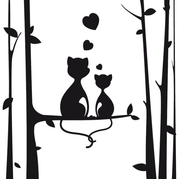 Vinilo decorativo gatos for Laminas vinilo pared