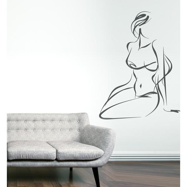 Vinilo decorativo desnudo chica for Vinilo habitacion chica