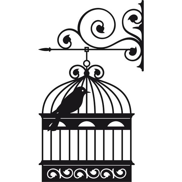 Dibujos de pajaro en jaula para colorear - Imagui