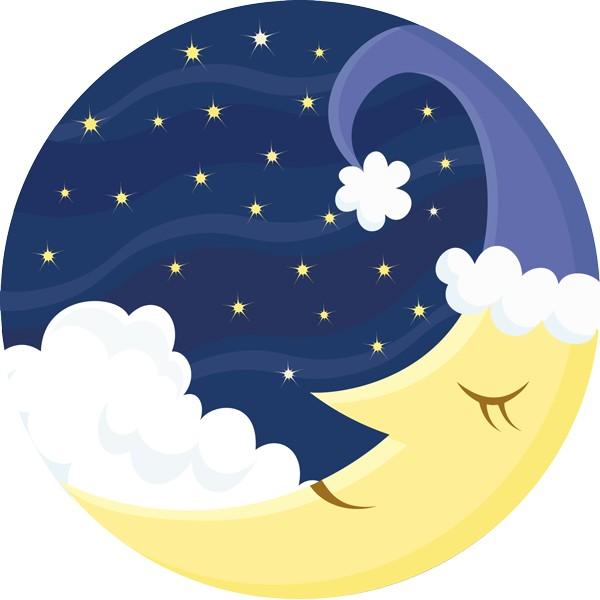 Vinilo infantil luna - Dibujos de lunas infantiles ...