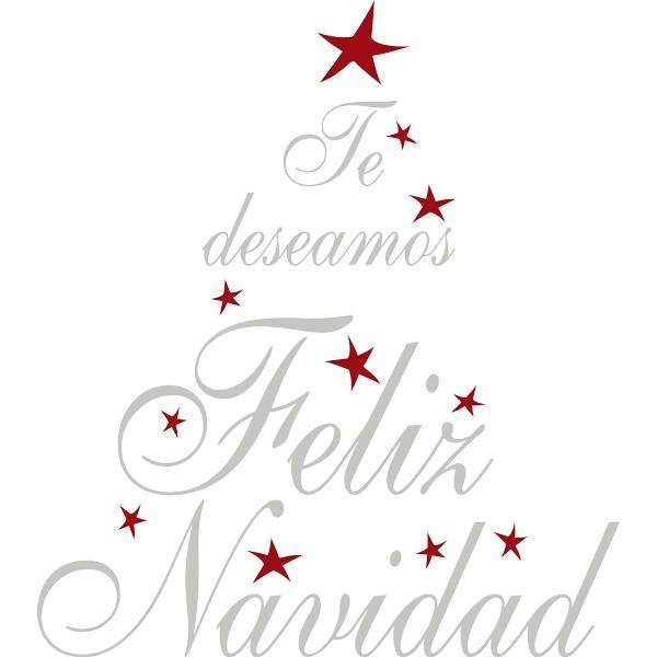 Vinilo decorativo te deseamos feliz navidad - Vinilos decorativos de navidad ...