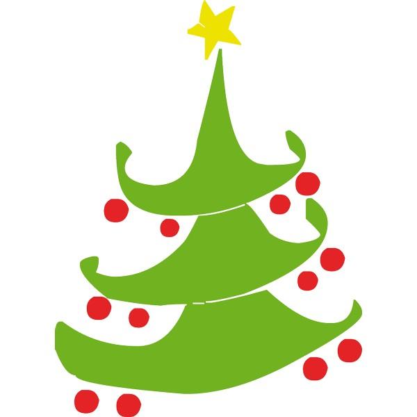 vinilo decorativo rbol navidad - Dibujos Arboles De Navidad