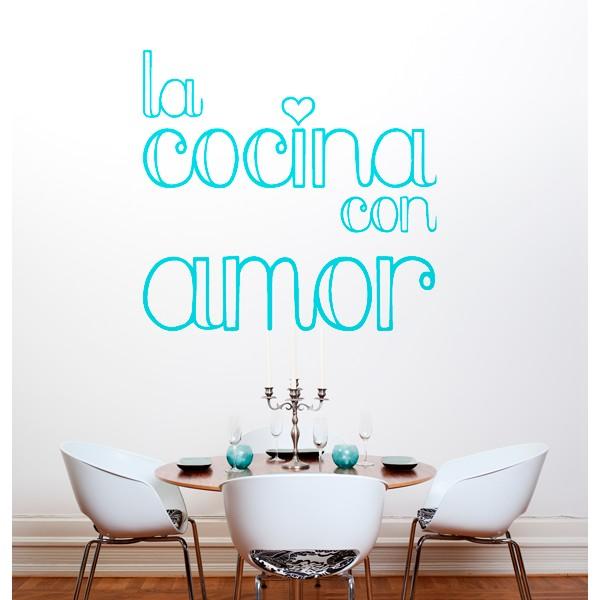 Vinilo decorativo cocina con amor
