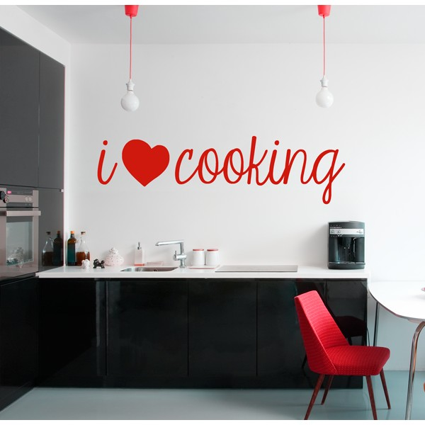 Vinilo decorativo i love cooking