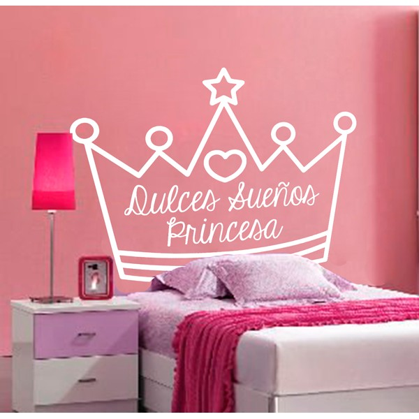 Vinilo decorativo cabecero cama princesa vinilos - Vinilo cabecero cama ...
