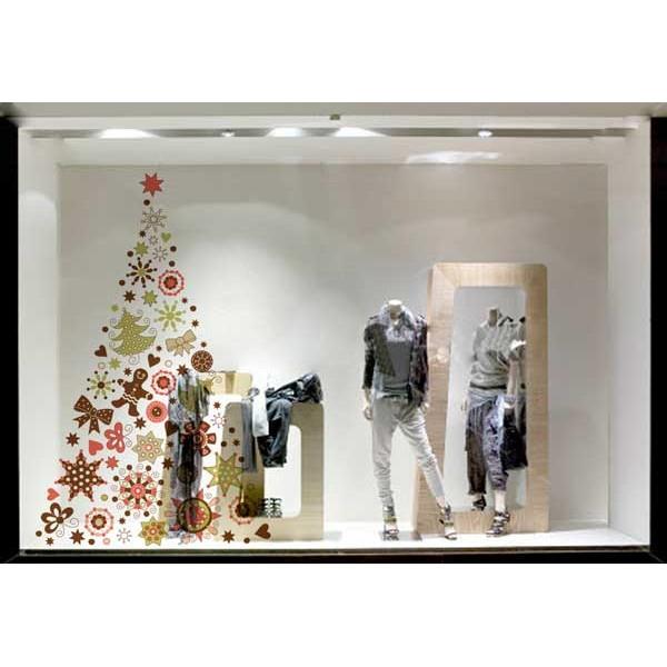 árbol adornos navidad vinilo transparente