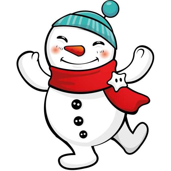 Vinilo decorativo muñeco de nieve color
