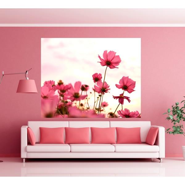 flores rosas campo