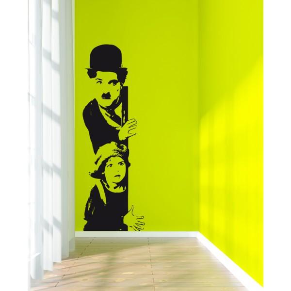 Vinilo decorativo Chaplin esquina