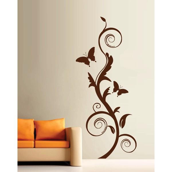 Floral espirales y mariposas