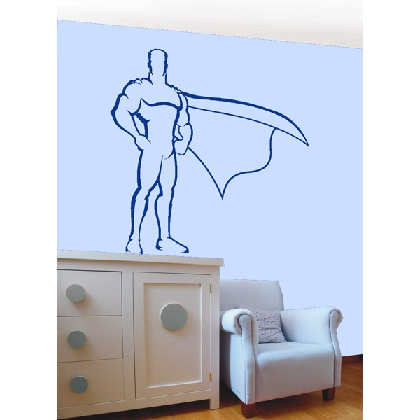 Vinilo decorativo superheroe
