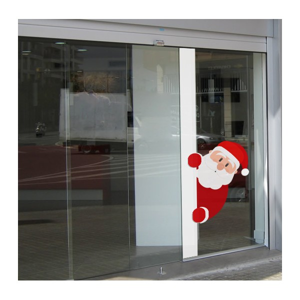 Papa Noel asomandose