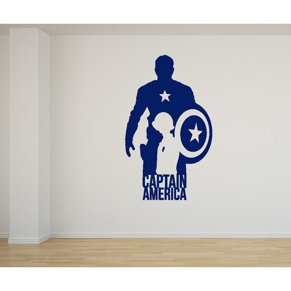 Vinilo decorativo Capitán América Los Vengadores