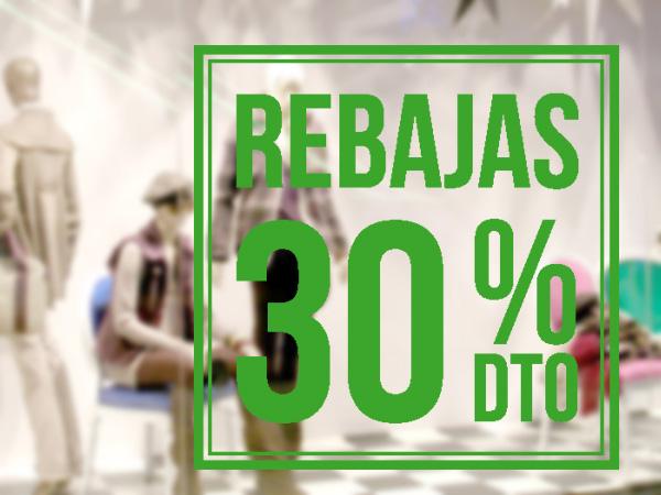 Rebajas recuadro 30%