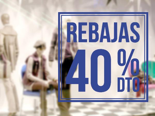 Rebajas recuadro 40%