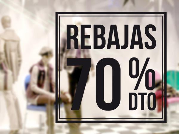 Rebajas recuadro 70%
