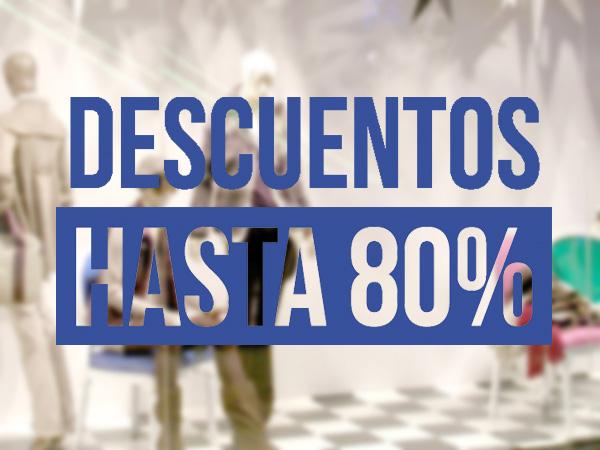 Descuentos hasta 80%