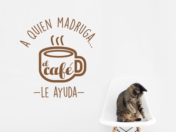 A quien madruga el café ayuda