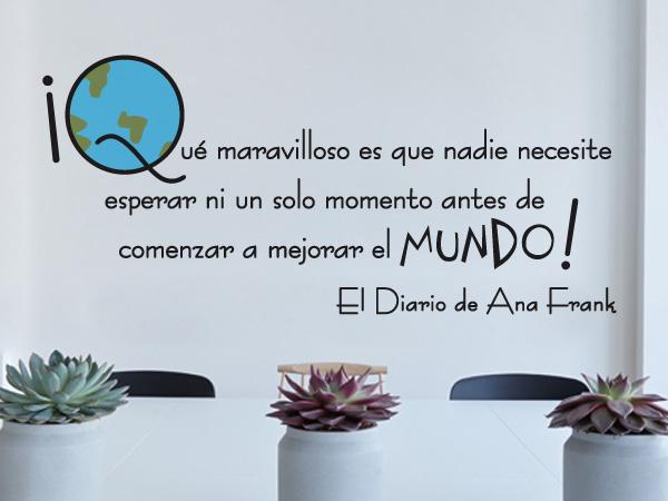 Vinilo Decorativo El Diario De Ana Frank