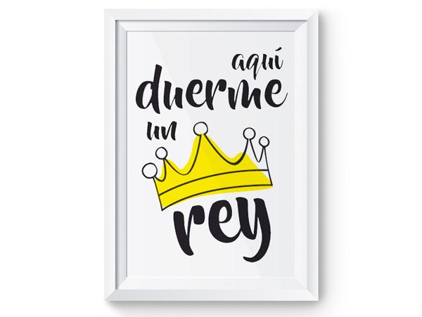 Lámina aquí duerme un rey