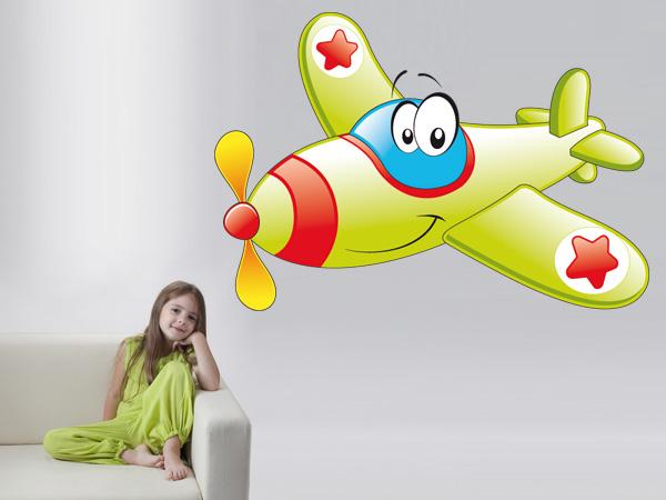 Avión con ojos