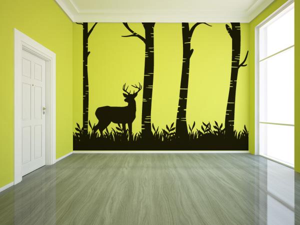 Bosque con ciervo