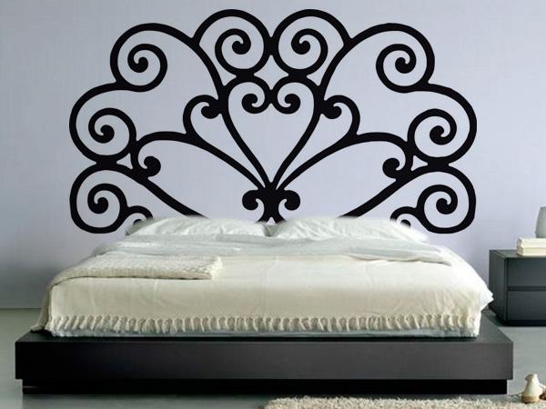Cabecero cama espirales