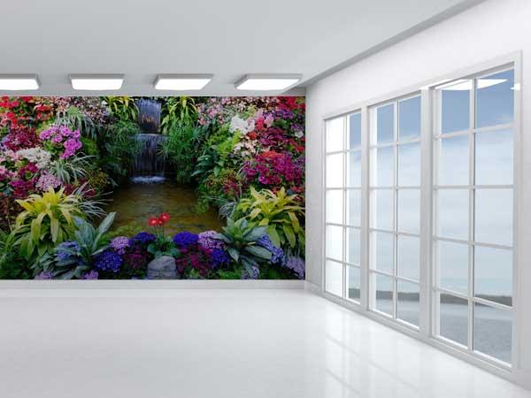 Cascada flores exóticas