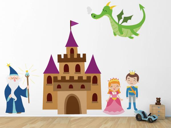 Castillo, mago y dragón