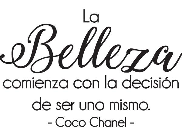 Vinilo Decorativo Coco Chanel Belleza