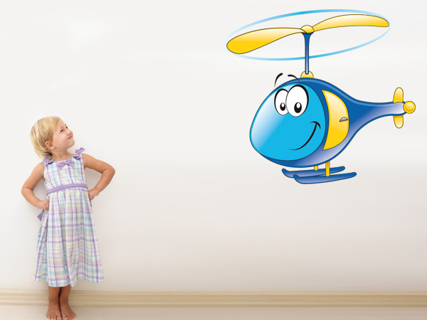 Helicóptero con ojos