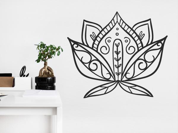 Flor de loto decorada
