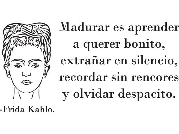 Dibujo Para Colorear De Frida Kahlo: Vinilo Decorativo Frida Kahlo Dibujo