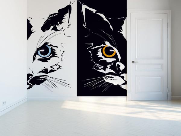 Gato blanco, gato negro
