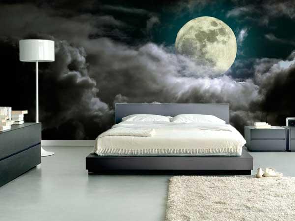 Luna con nubes