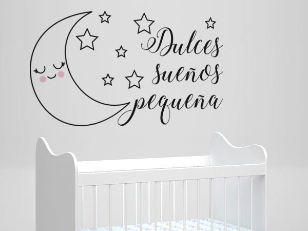 Luna con estrellas dulces sueños pequeña
