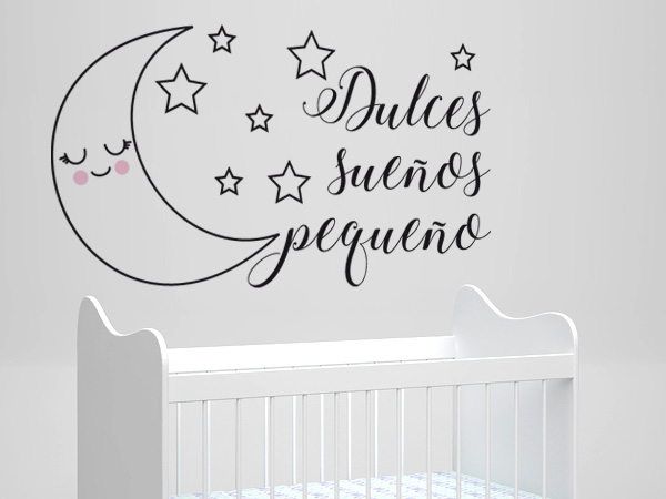 Luna con estrellas dulces sueños pequeño
