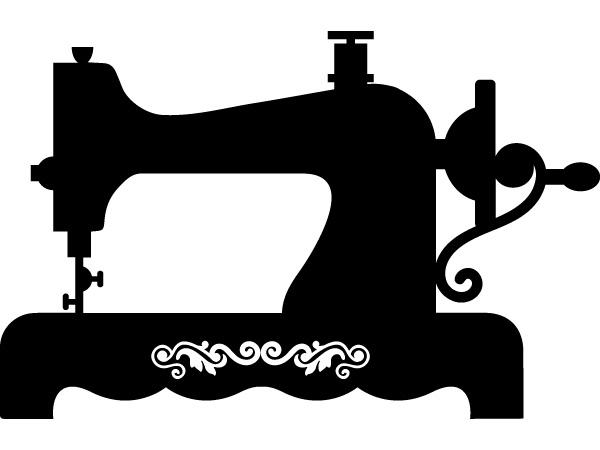 Vinilo decorativo maquina de coser vintage