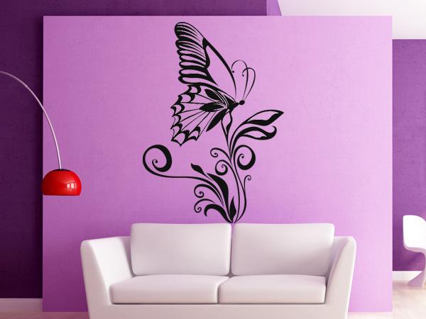 Mariposa sobre flor 01