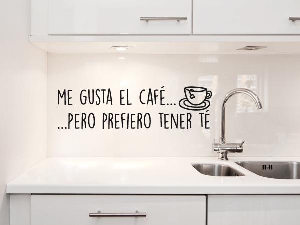 Me gusta el café... pero prefiero tener té