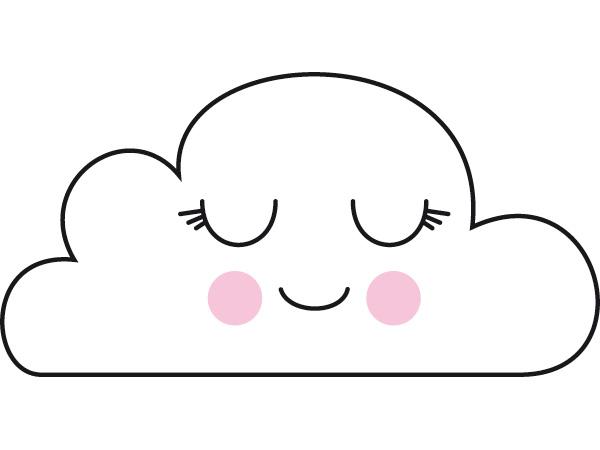 Dibujos De Ojos Infantiles Para Colorear: Imagenes De Nubes Infantiles