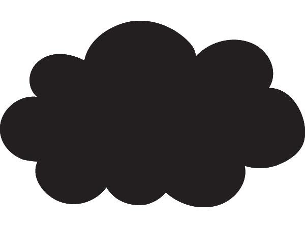 Vinilo infantil nube silueta - Dibujos de vinilo para paredes ...