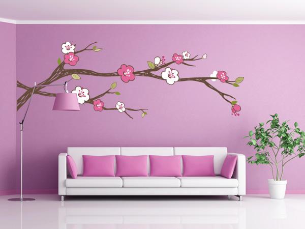 Rama con flores color