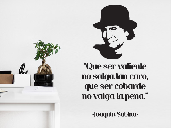 Vinilo decorativo joaqu n sabina soledad for Frases en vinilo para pared